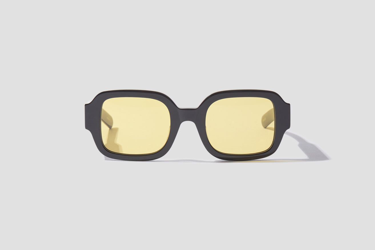 TISHKOFF - SOLID BLACK / SOLID BROWN YELLOW LENSES 006 130 Black