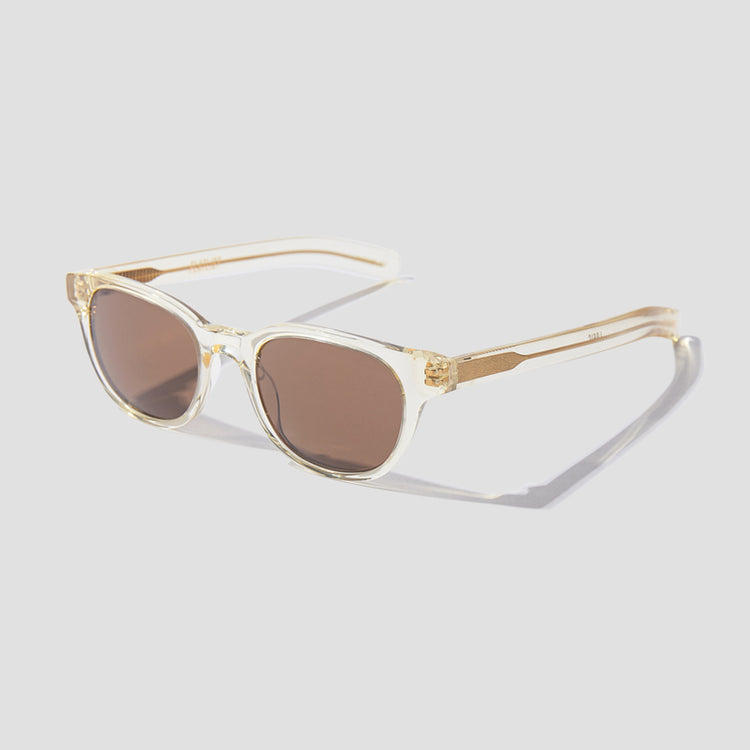 LOGIC - CRYSTAL YELLOW / SOLID DARK BROWN LENSES 002 995 Transparent