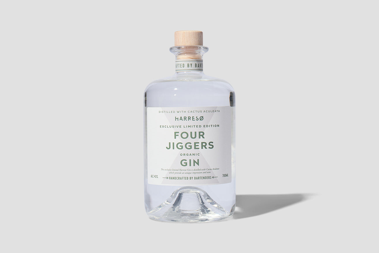 FOUR JIGGERS X HARRESØ ORGANIC GIN 43% 700 ML.