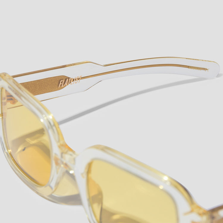 TISHKOFF - CRYSTAL YELLOW / SOLID BROWN YELLOW LENSES 006 995 Transparent