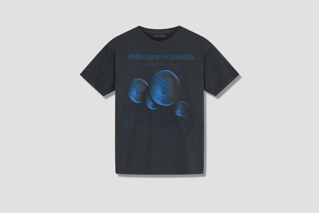 HOUSTON SKIES T-SHIRT HOU/COT/BLA-SS20 Black