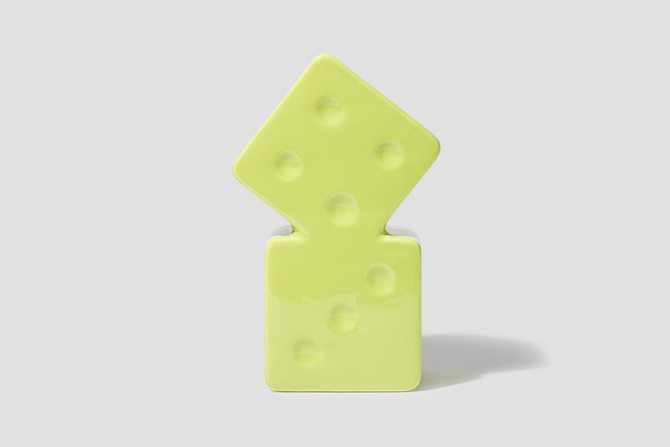 CERAMIC DICE VASE 138703 Green
