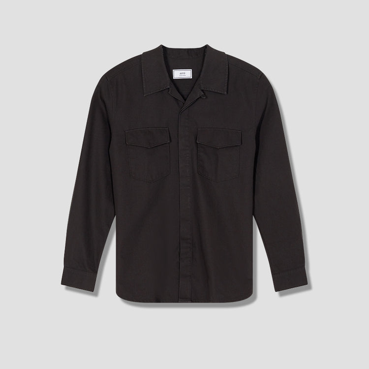CAMP COLLAR OVERSHIRT A20HC320.201 Black