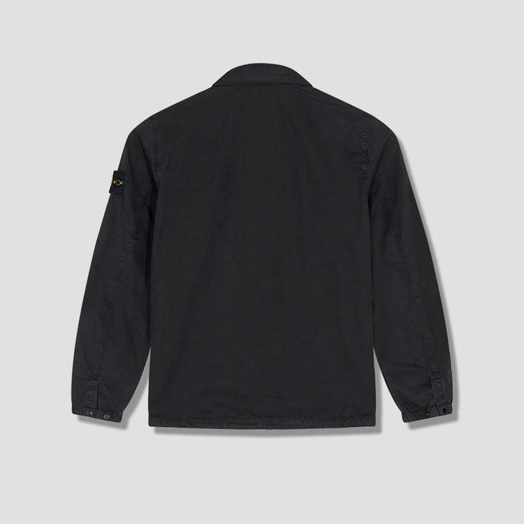 BRUSHED COTTON CANVAS GARMENT DYED OLD EFFECT 7315107WN Black
