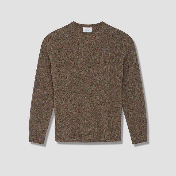 CREW-NECK FELTED BASIC UTO40 M00718U 002 Brown