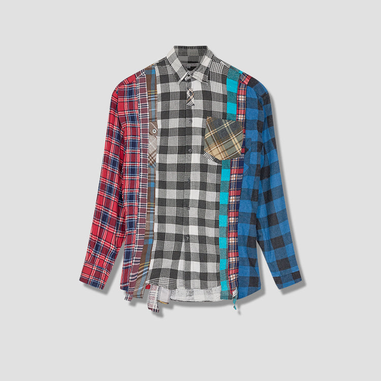 REBUILD BY NEEDLES FLANNEL SHIRT - 7 CUTS SHIRT HM300 Black