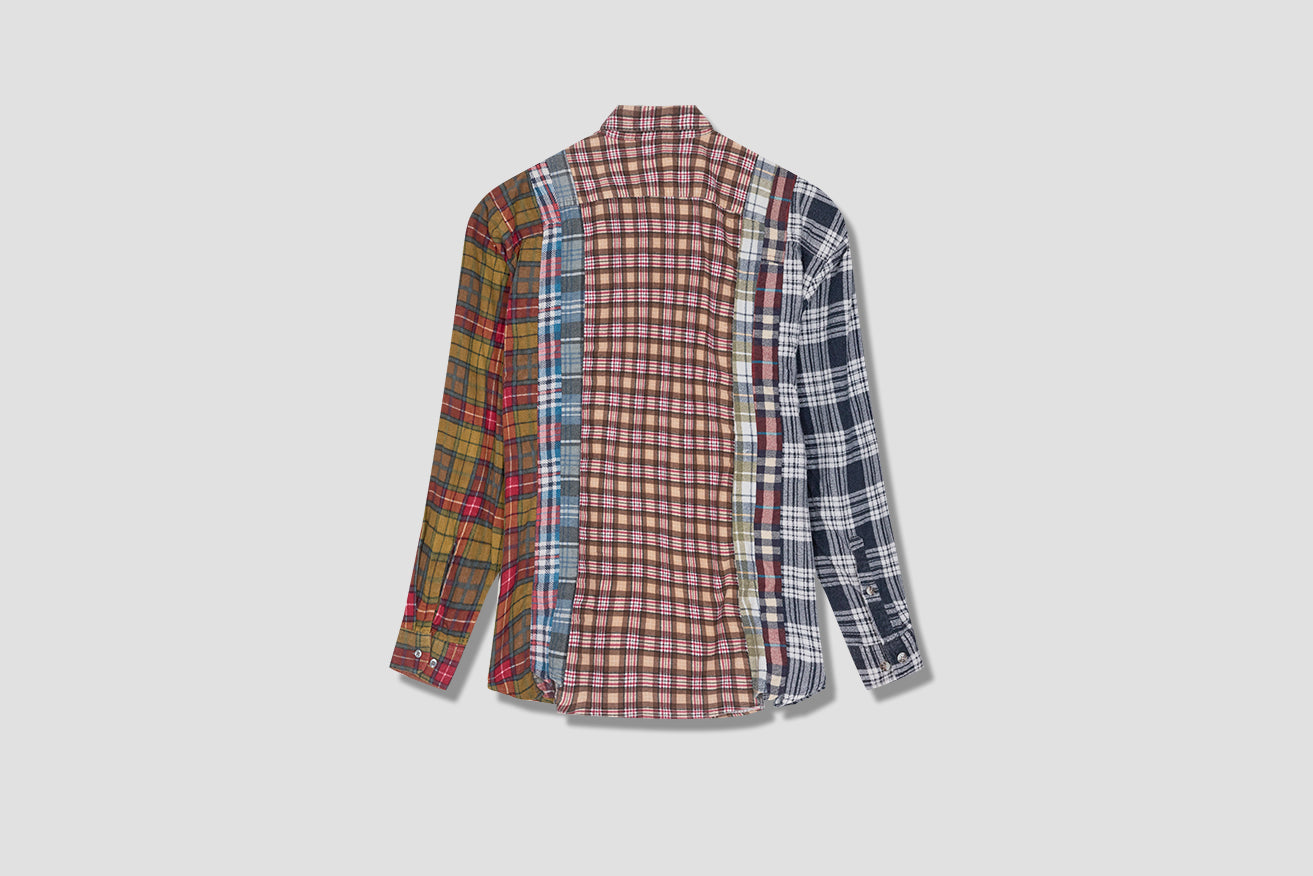REBUILD BY NEEDLES FLANNEL SHIRT - 7 CUTS SHIRT HM300 Brown