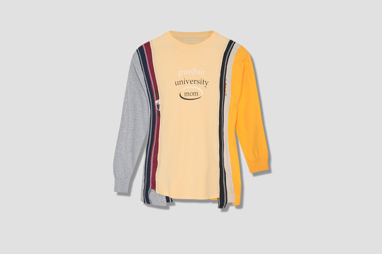 REBUILD BY NEEDLES 7 CUTS L/S TEE - COLLEGE HM313 Yellow
