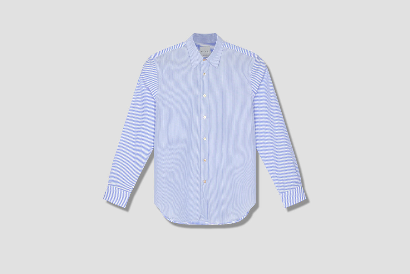GENTS S/C TAILORED SHIRT M1R-669TM-E01238 Blue