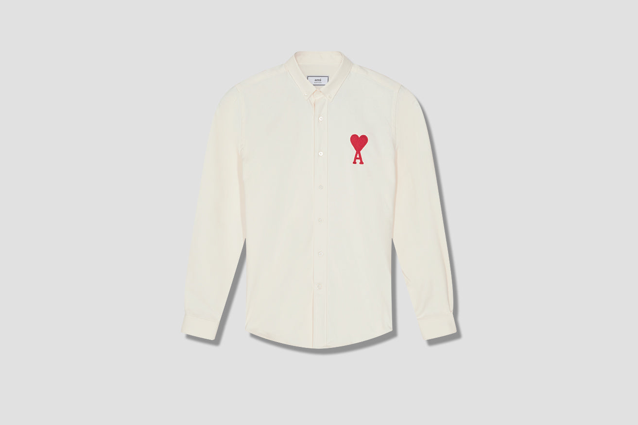 BUTTON-DOWN BIG AMI DE COEUR SHIRT H20HC024.418 Off white