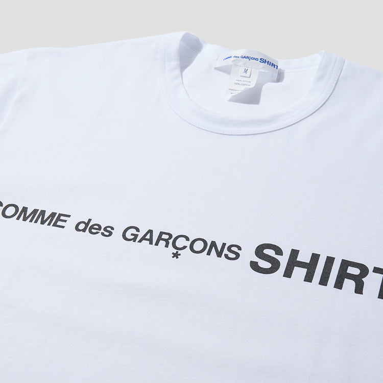 COTTON JERSEY PLAIN WITH FRONT CDG SHIRT LOGO W28116 White