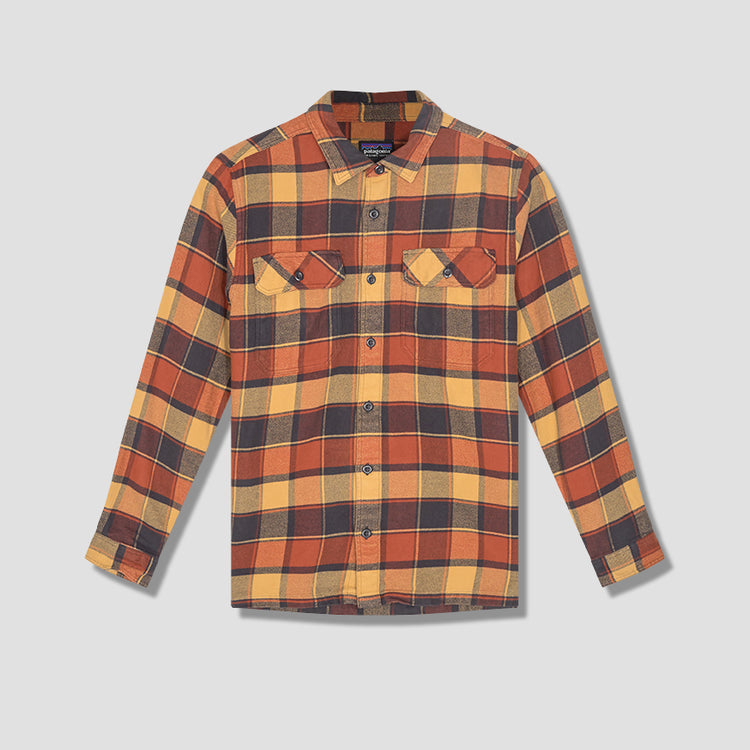 LONG-SLEEVED FJORD FLANNEL SHIRT 53947 Red