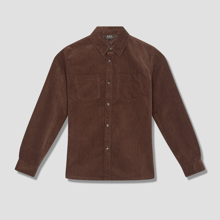 JOE OVERSHIRT COEHR-H02486 Brown