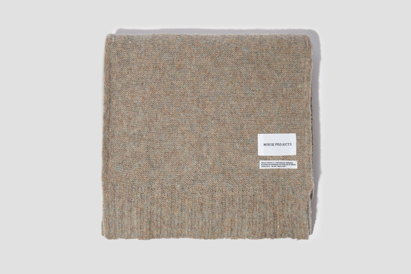 NORSE BRUSHED SCARF N83-0000 Light brown