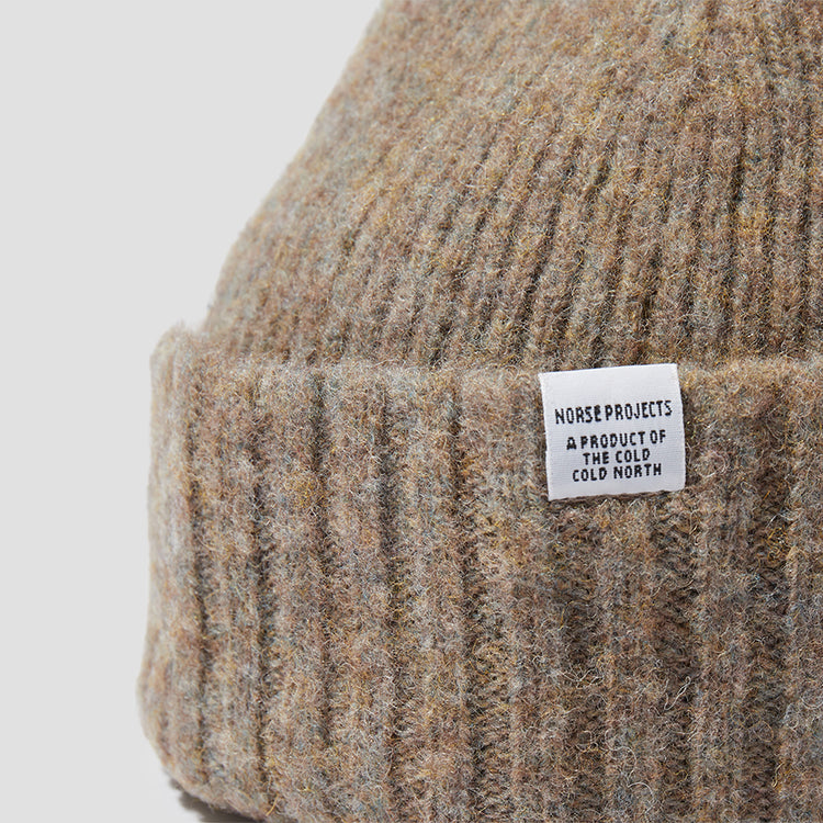 BRUSHED LAMBSWOOL BEANIE N95-0800 Light brown
