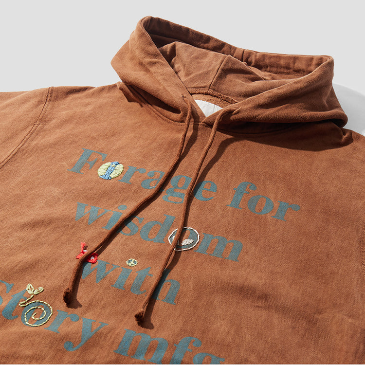 BLOOM HOODY - BARK FORAGE FOR WISDOM BH-LBB-FFW Brown