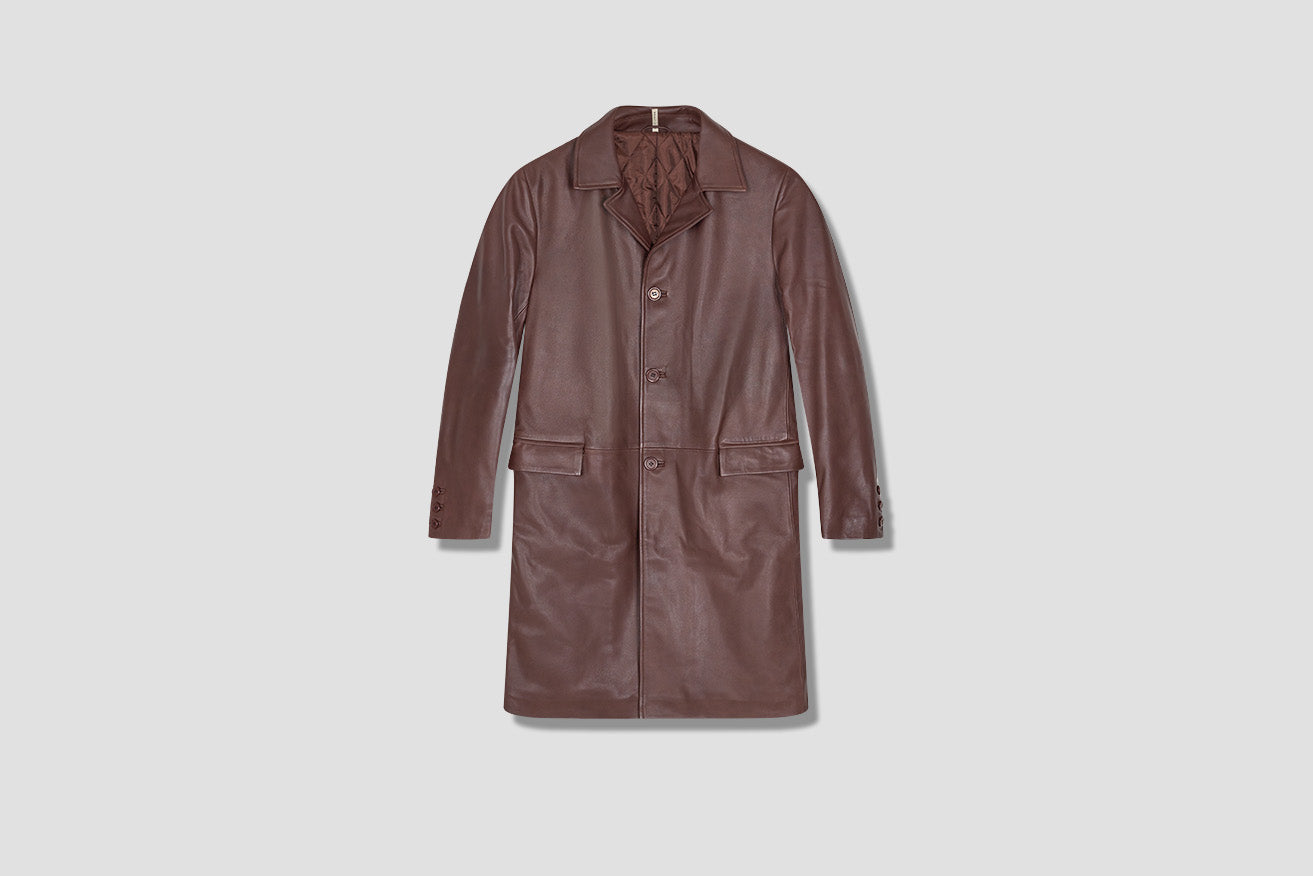 WINTER COAT LEATHER 6002 Brown