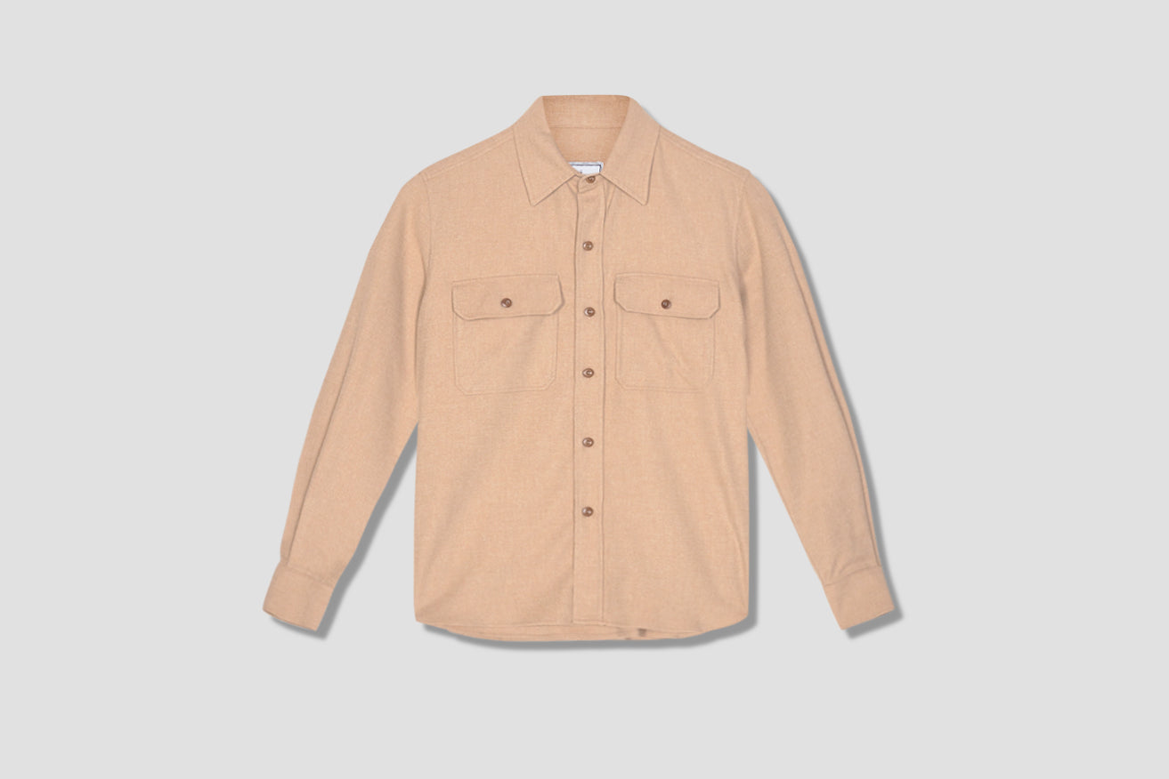 CHEST POCKETS BUTTONED OVERSHIRT H20HC300.422 Beige