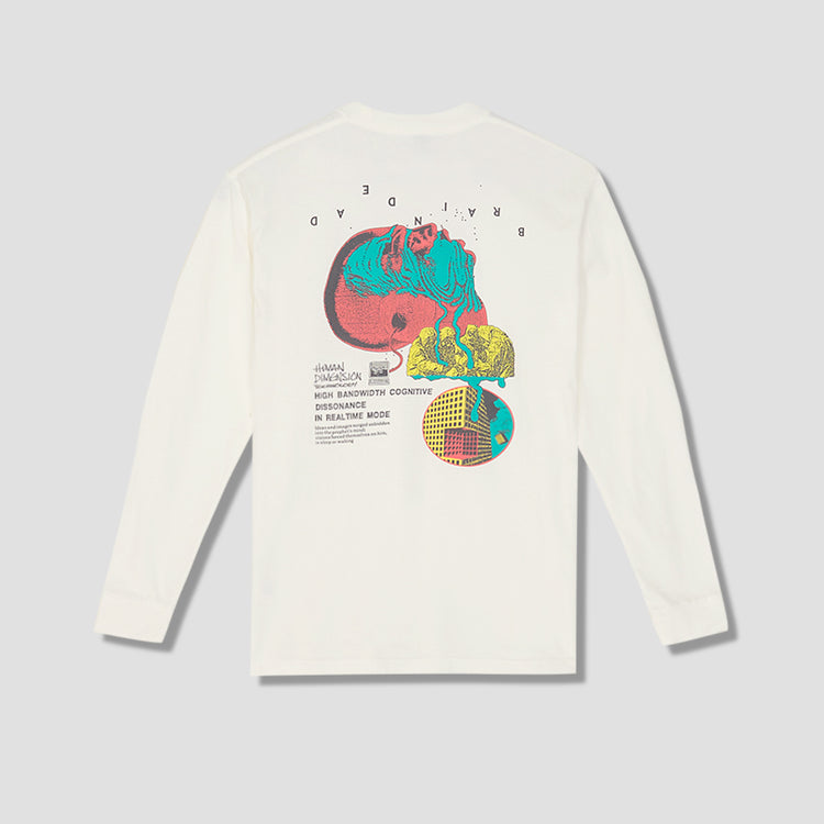 HUMAN DIMENSION LONG SLEEVE T-SHIRT BDF20T01001378WH02 Off white