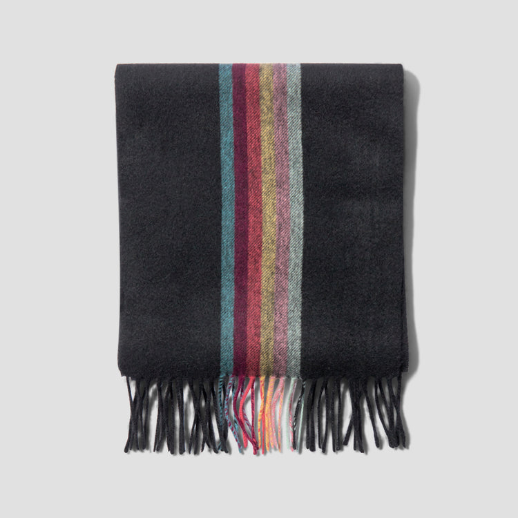 MEN SCARF CENTRAL ARTIST M1A-119F-AS09 Black