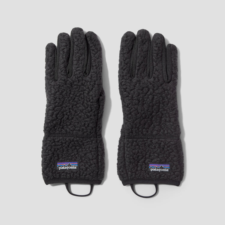 RETRO PILE GLOVES 34585 Black