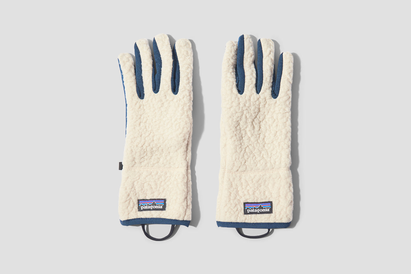 RETRO PILE GLOVES 34585 Off white