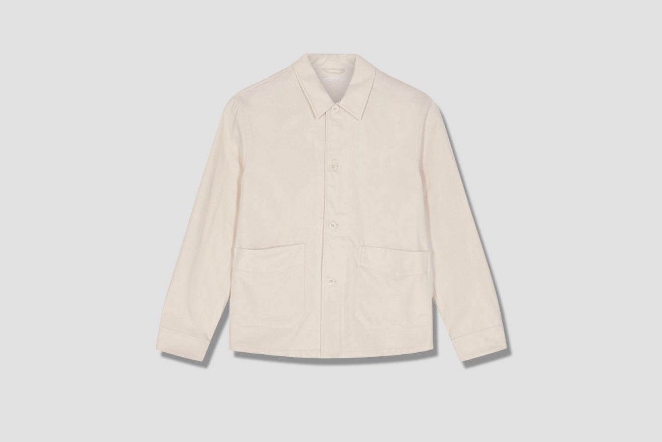 ARCHIVE BOX JACKET - CREAM WHITE MELTON M4201AW Off white