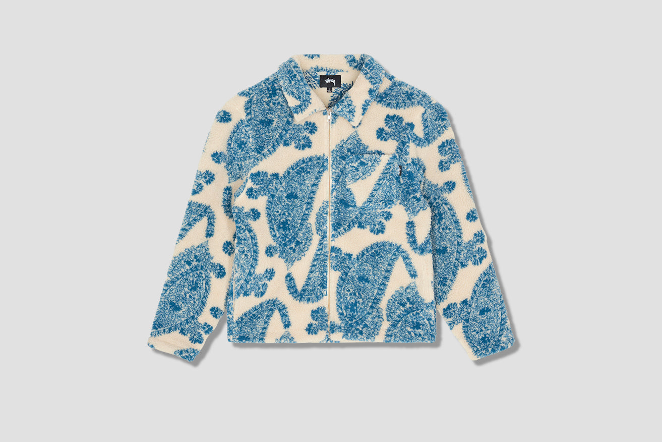 BIG PAISLEY FULL ZIP SHERPA 118399 Off white