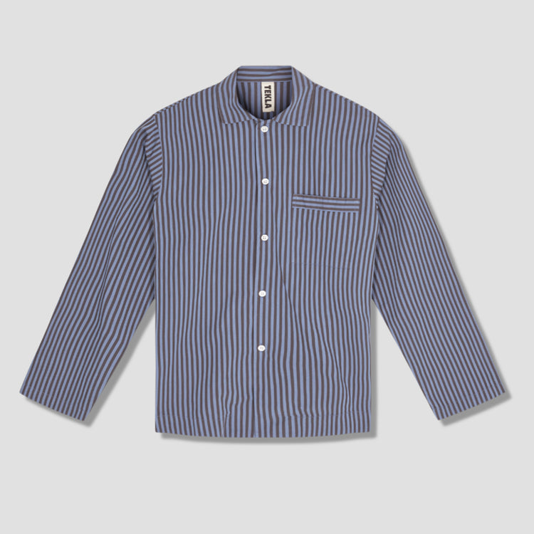 PYJAMAS SHIRT - COTTON POPLIN Blue