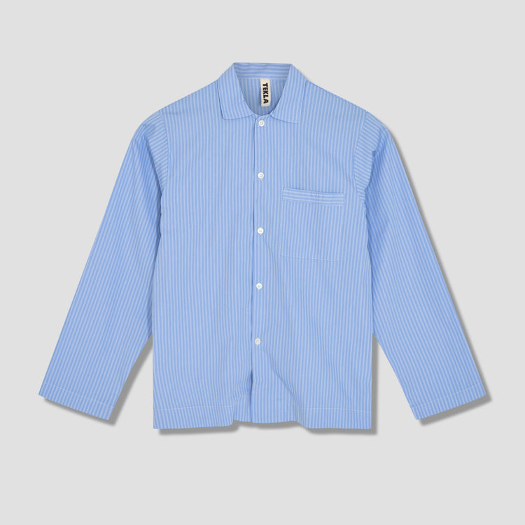 PYJAMAS SHIRT - COTTON POPLIN Light blue