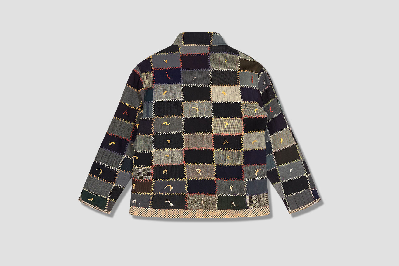 ONE OF A KIND WOOL CRAZY QUILT JACKET MO22JA01.W100.980 Multi