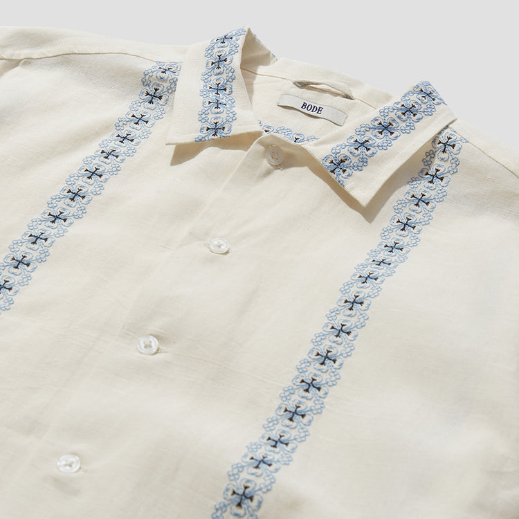 TWIN BIRD MOSAIC SHIRT MR22SH07.C005.110 Off white
