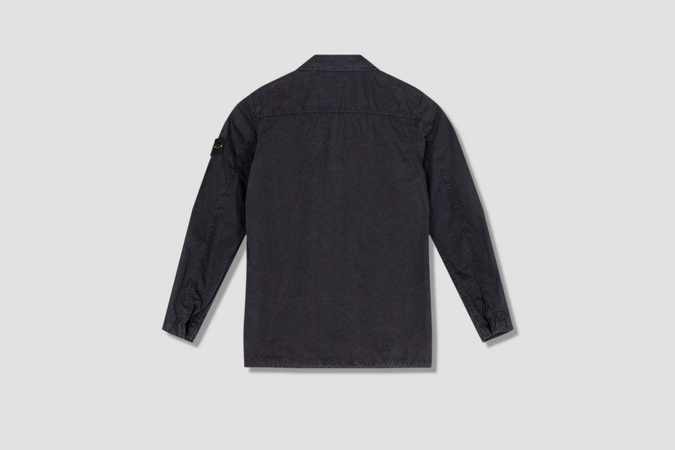 BRUSHED COTTON CANVAS GARMENT DYED 'OLD' EFFECT 7415439WN Black