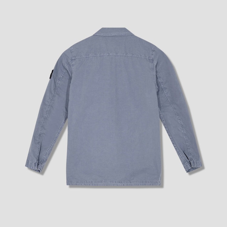 BRUSHED COTTON CANVAS GARMENT DYED 'OLD' EFFECT 7415439WN Blue