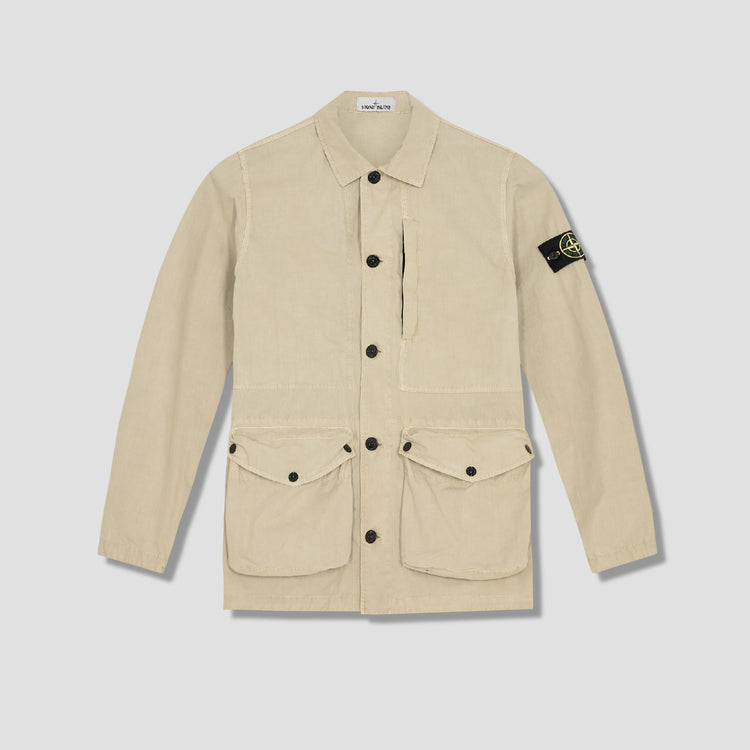 BRUSHED COTTON CANVAS GARMENT DYED 'OLD' EFFECT 7415439WN Khaki