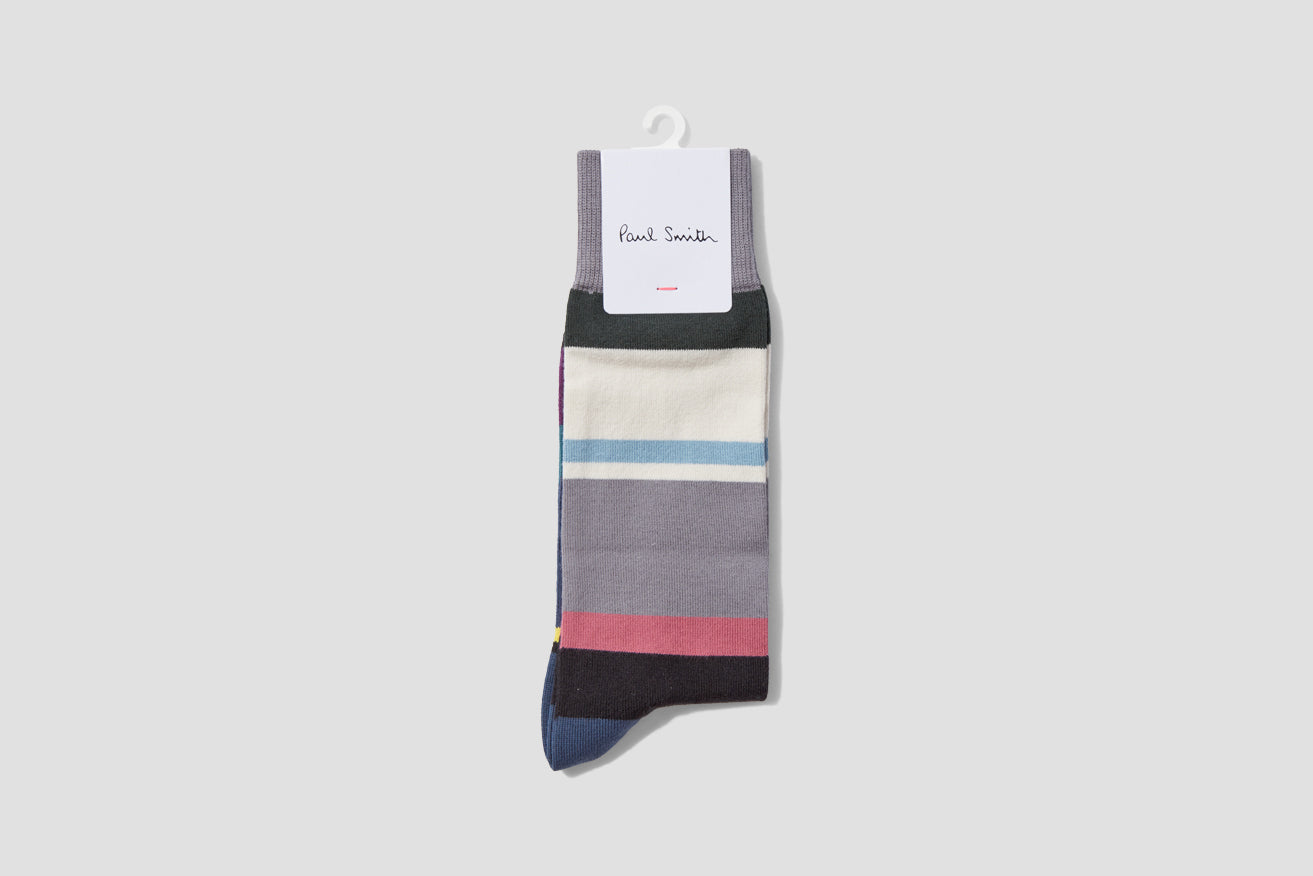 MEN SOCK QUADIM STRIPE M1A-380A-FF472 Grey