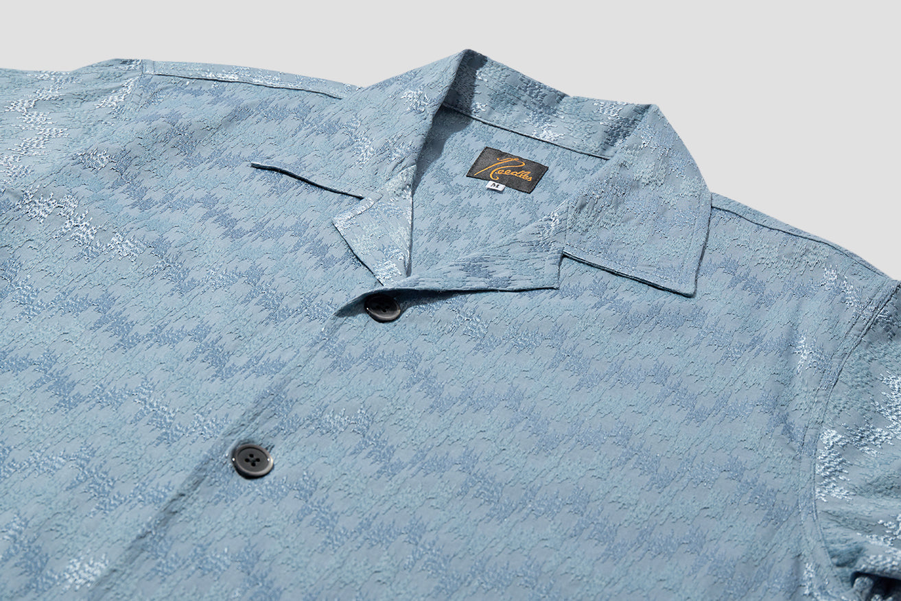 CABANA SHIRT - WAVE EMB. IN168 Blue