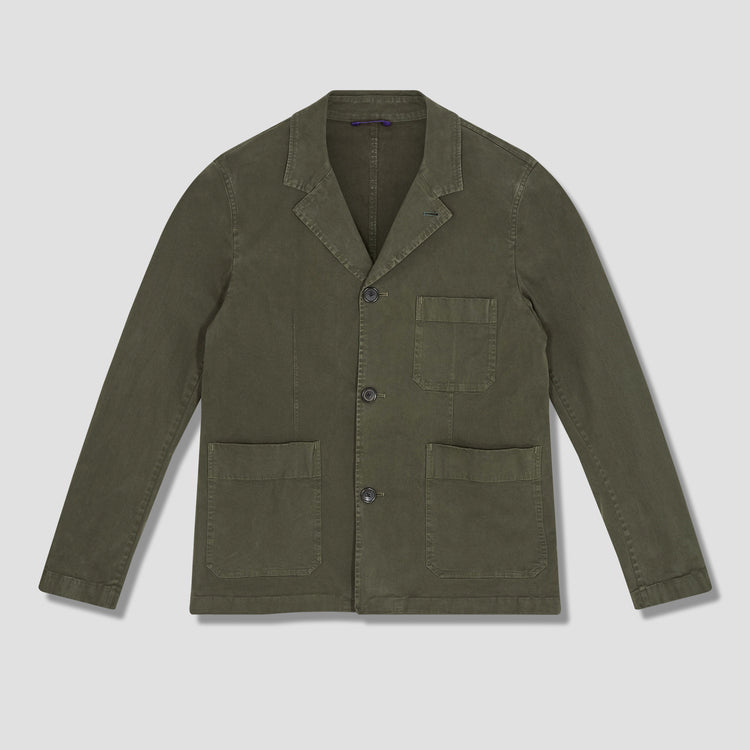 MENS CONVERTIBLE COLLAR JACKET M2R-217T-F21122 Olive