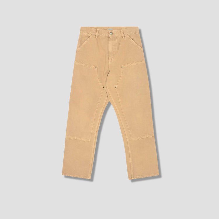DOUBLE KNEE PANT - WORN CANVAS I029196 Brown