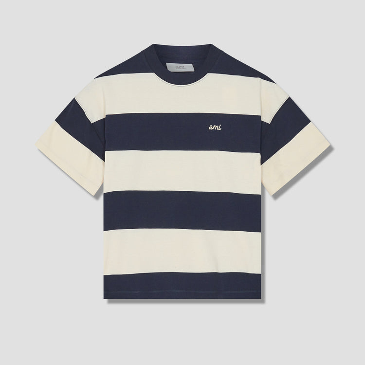 RUGBY STRIPED OVERSIZE T-SHIRT E21HJ136.75 Navy
