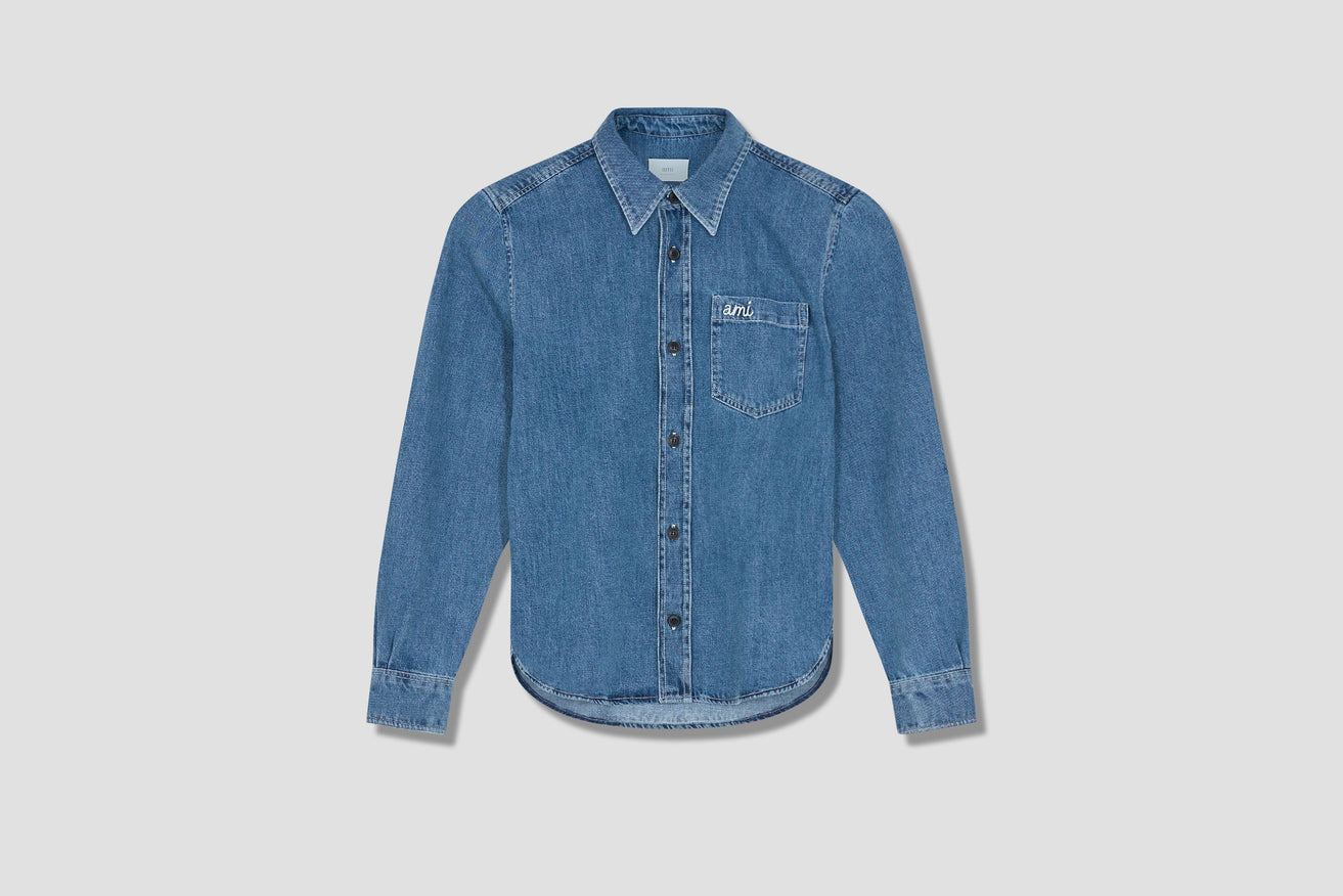 AMI DENIM OVERSHIRT E21HC045.410 Blue