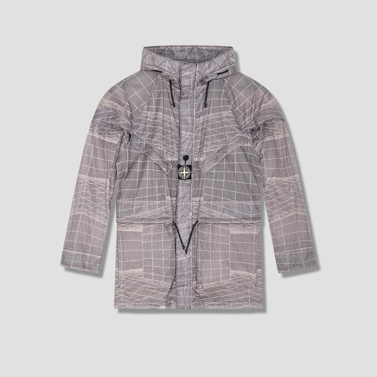 REFLECTIVE GRID ON LAMY-TC. GARMENT DYED 741542999 Grey