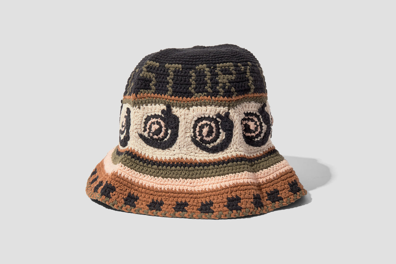 BREW HAT BREW-HAT-SNAILP - SNAIL POWER Black