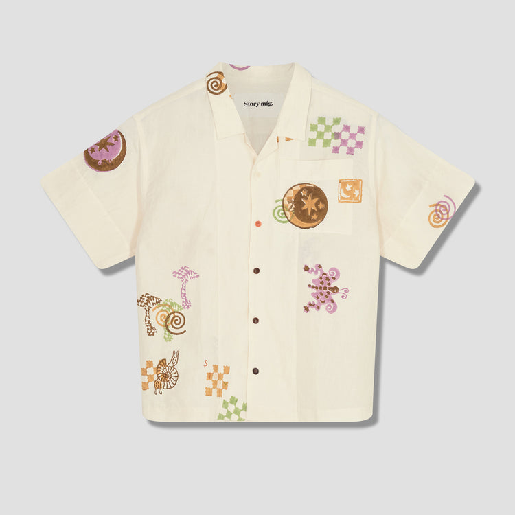 GREETINGS SHIRT GTIN-EC-SPRLTRIP - SPIRAL TRIP Off white