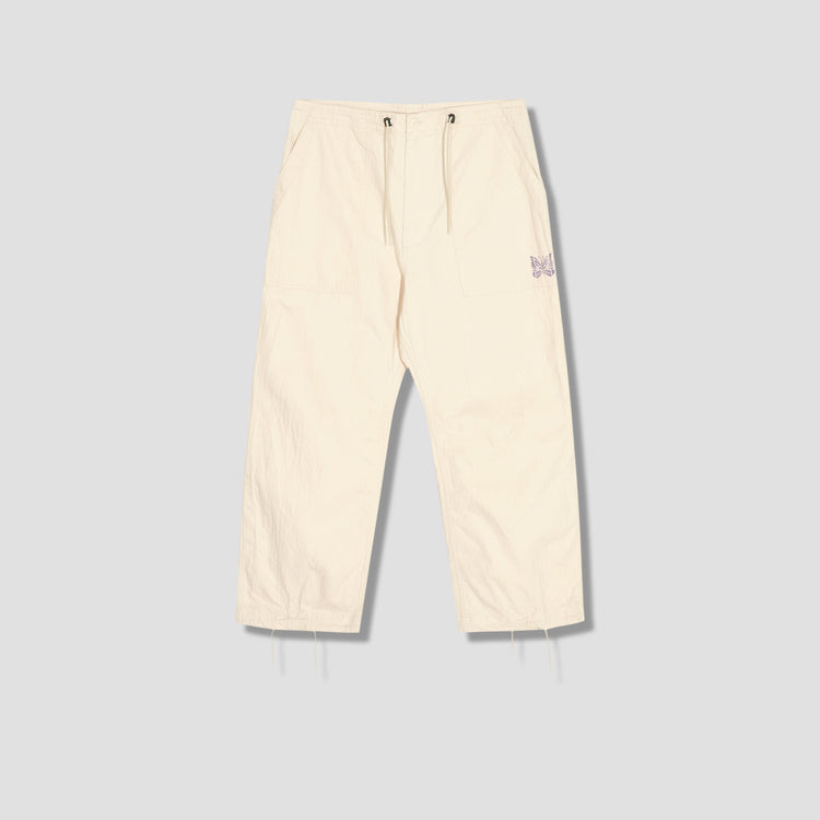 STRING FATIGUE PANT - COTTON HERRINGBONE IN127 Off white