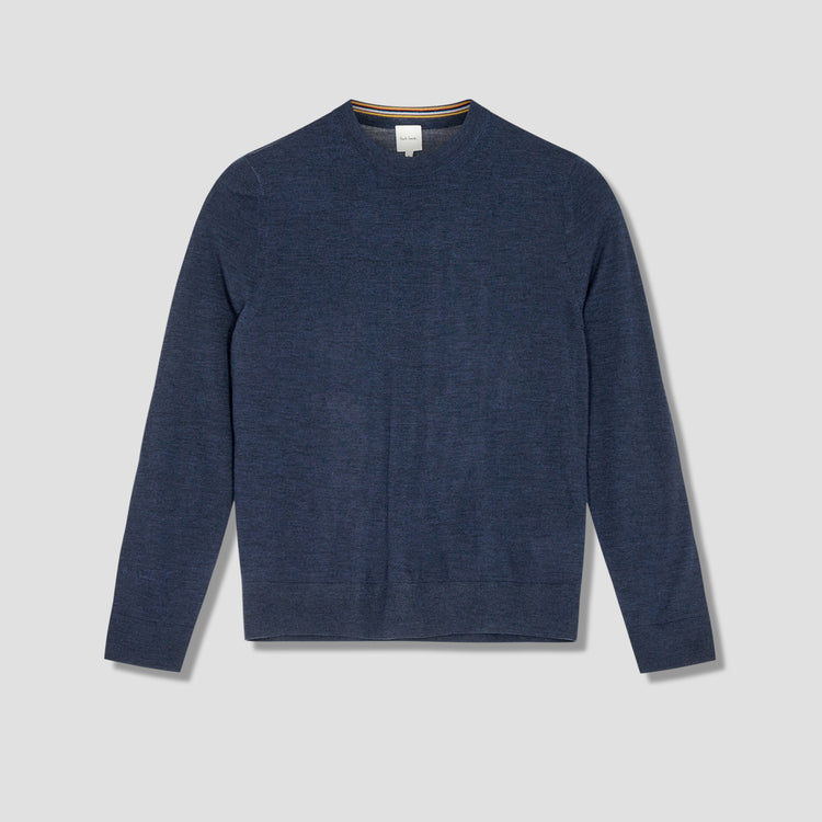 GENTS PULLOVER CREW NECK M1R-053U-F01394 Blue