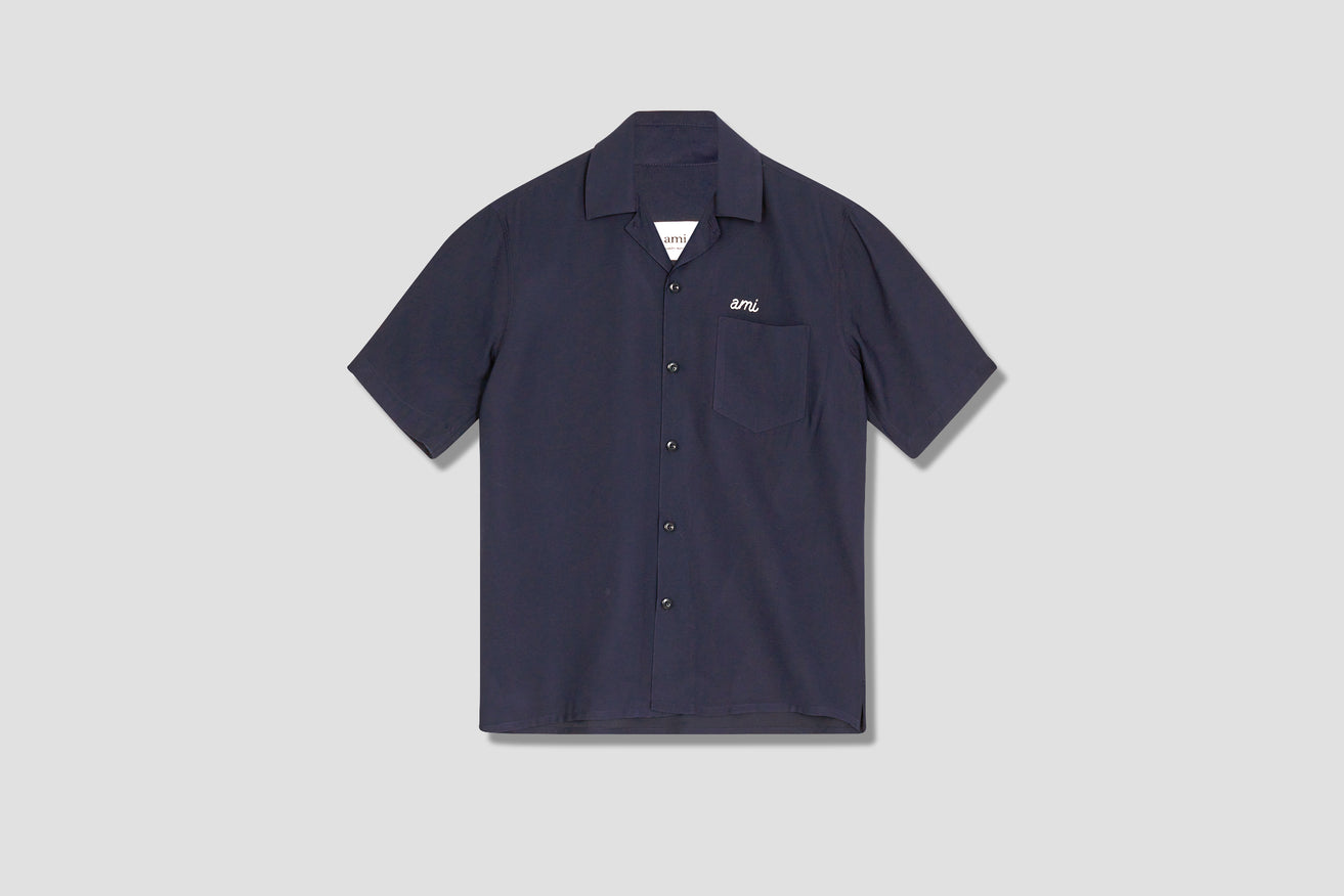 CAMP COLLAR AMI SHIRT E21HC200.452 Navy