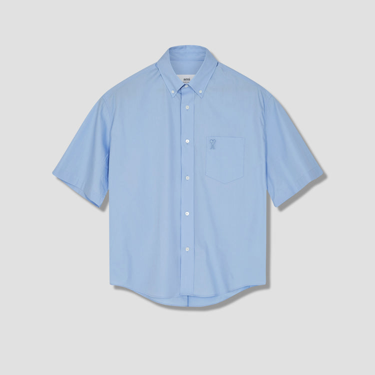 AMI DE COEUR BOXY FIT SHIRT E21HC251.426 Light blue