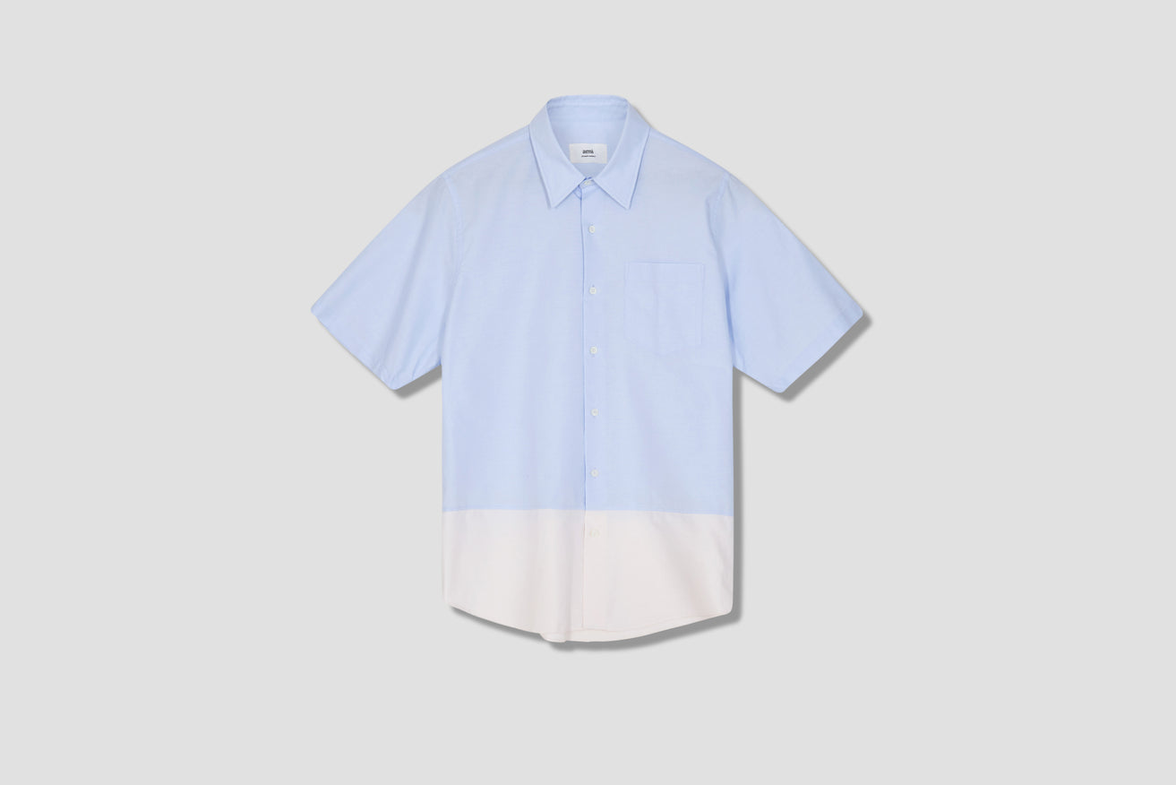SHORT SLEEVES SUMMER FIT SHIRT E21HC258.45 Light blue