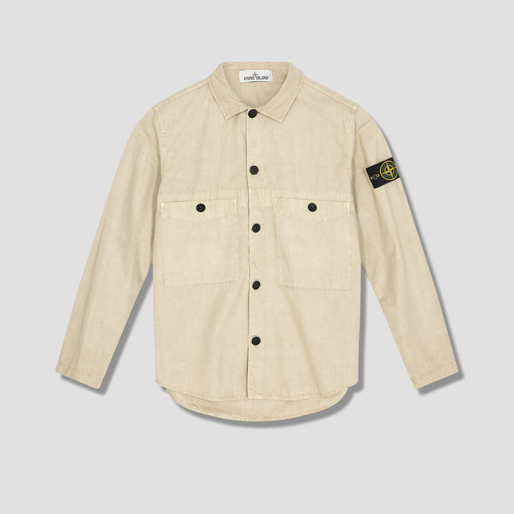 BRUSHED COTTON CANVAS GARMENT DYED 'OLD' EFFECT 7415110WN Khaki